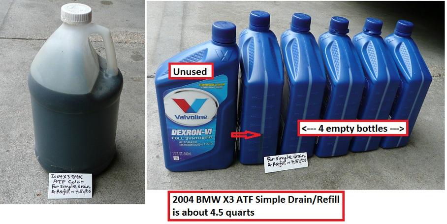 DIY 2004 X3 E83 ATF SIMPLE Drain/Refill using Gravity