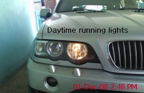 Angel Eyes on 2001 X5 with Daytime Running Lights - Xoutpost com