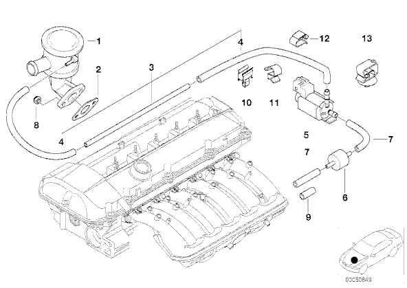 2003 Bmw 325i Vacuum Hose Diagram Besides Bmw E46 Fuse Box Location