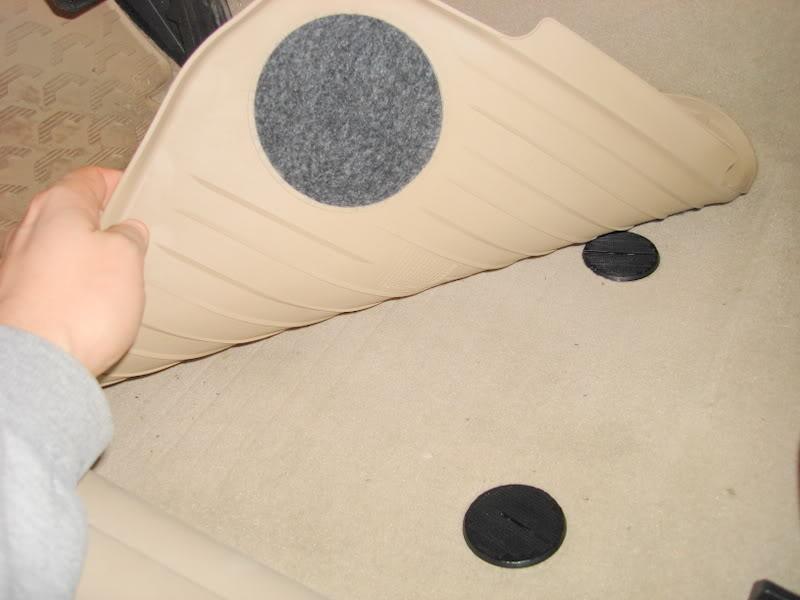 Bmw velcro floor mat anchors