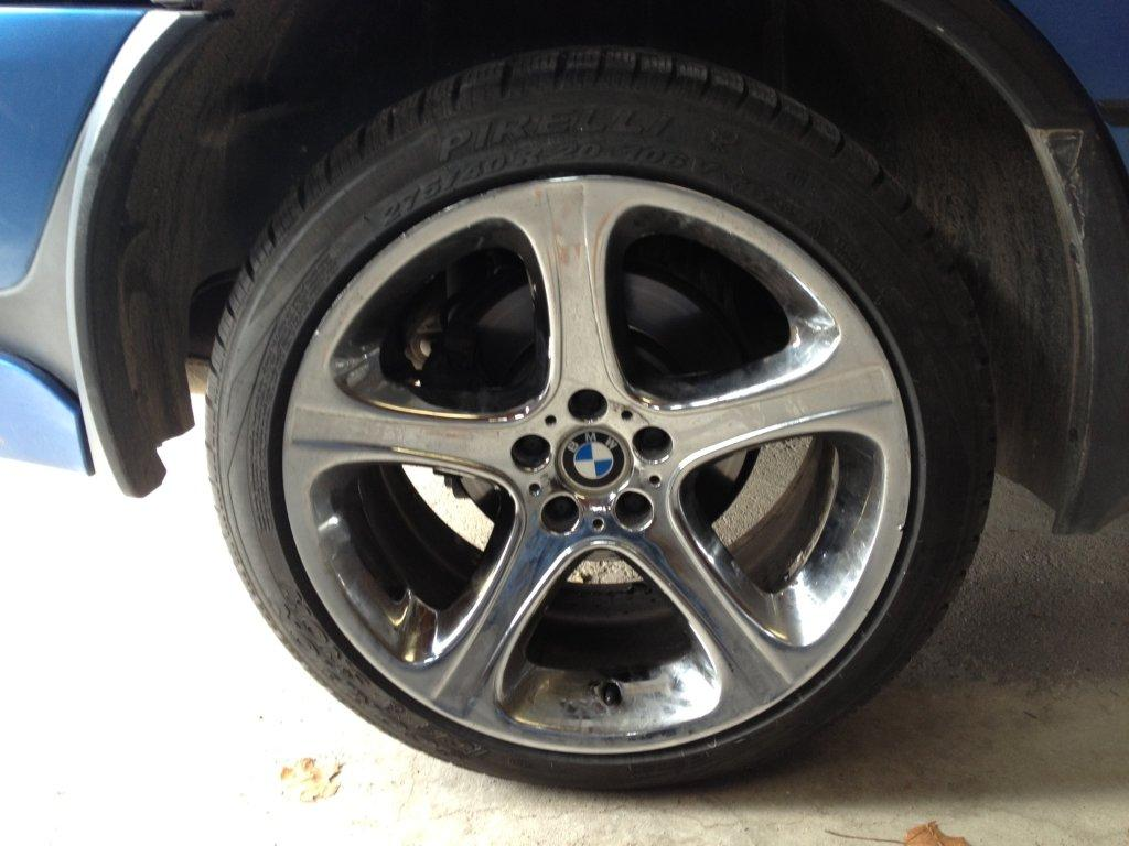 """Rims And Tires Canada >> Winter Tires on 20"""" rims - yes 275/40/20's fit on rear rims! - Xoutpost.com"""