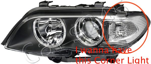 Can the white corner light of E53 be modified to be E53 facelift