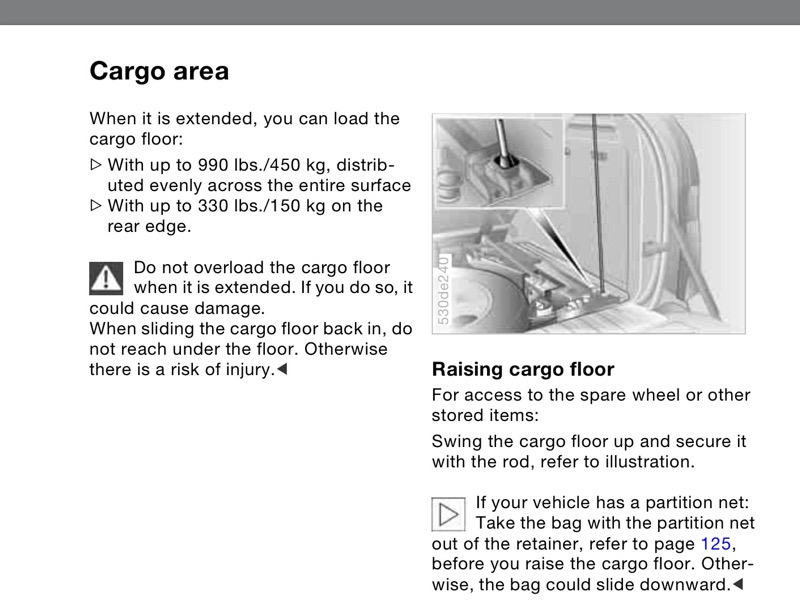 How to keep rolling cargo floor off my head page 2 for Sentence of floor