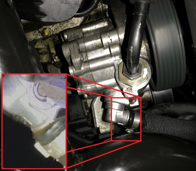 Power steering fluid leak - Xoutpost.com