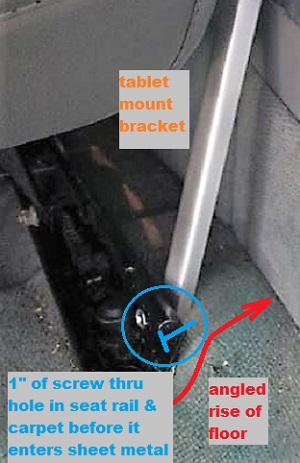 Name:  bracket forced under seat rail, angled against console.JPG Views: 77 Size:  72.2 KB