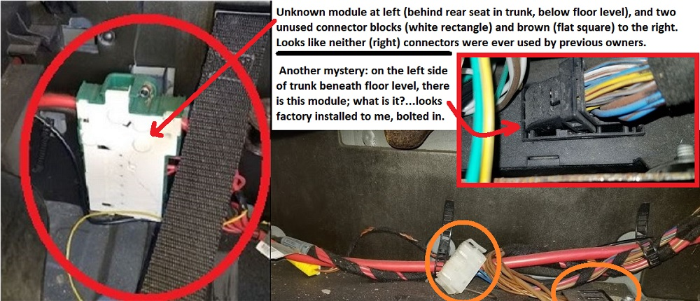 Name:  mystery modules, connectors, and wiring harnesses in trunk.jpg Views: 35 Size:  199.0 KB