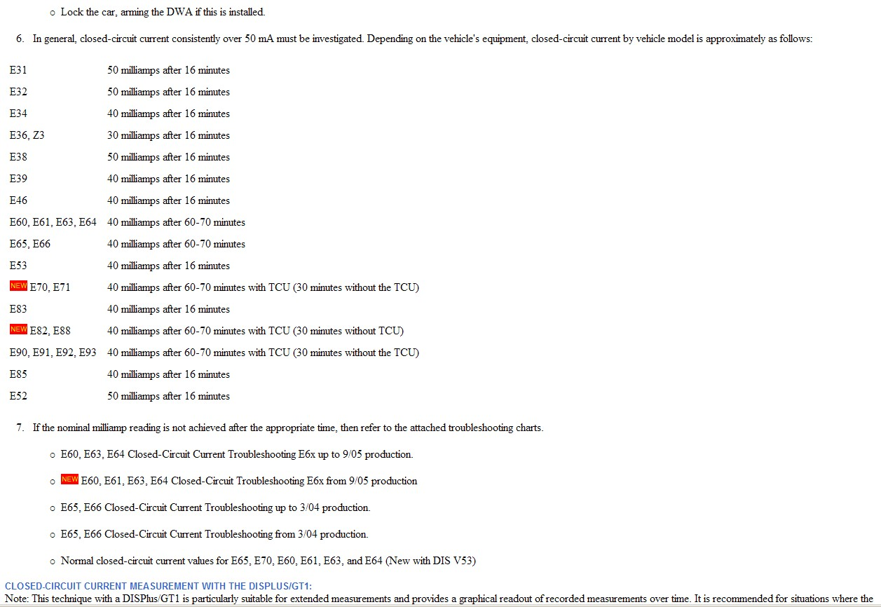 Is There Any Sign Of A Sib For Excessive Battery Discharge Page 2 Bmw Fault Code Chart Attached Images