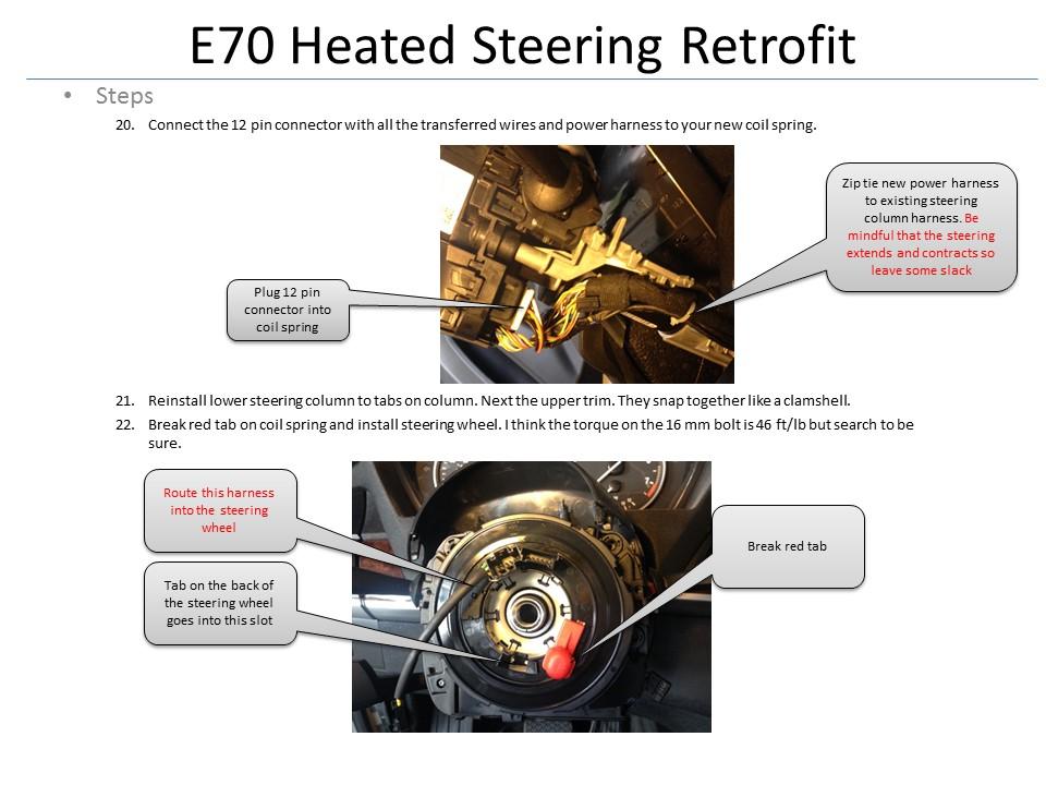 Bmw X5 E70 Heated Steering Wheel Retrofit Heated steering wheel