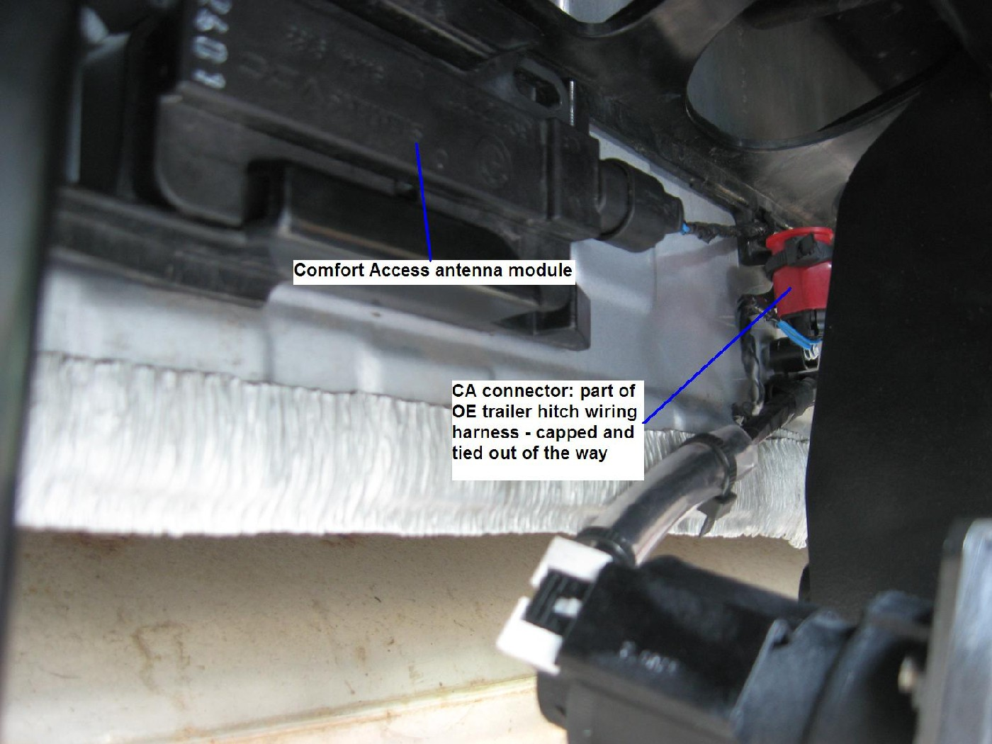 Problem Installing Oem Hitch And Harness Bmw X1 Trailer Wiring Attached Images