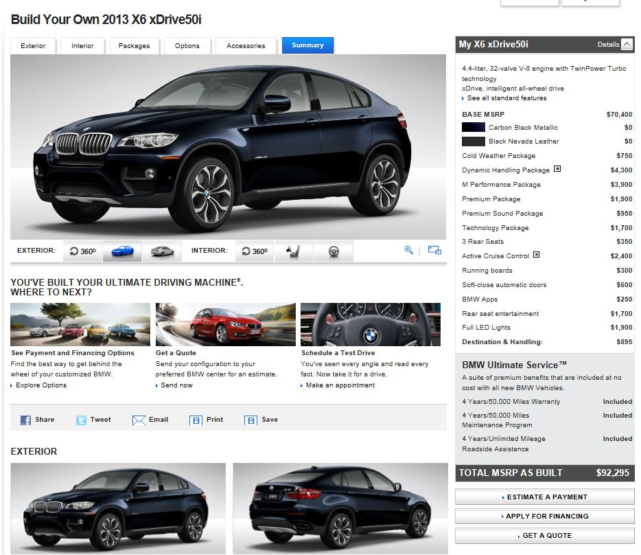 2013 Bmw X6 Interior: Facelift 2013 X6 Configurator Is Now Online At BMWUSA.com